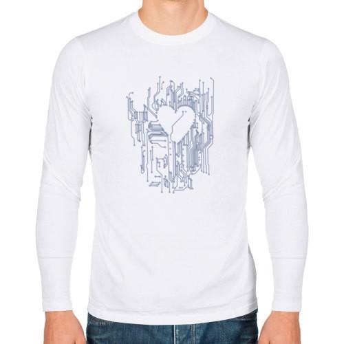 Мужская футболка с длинным рукавом Микросхема