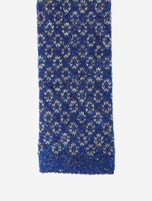 Синий вязаный галстук Calabrese с геометрическим узором