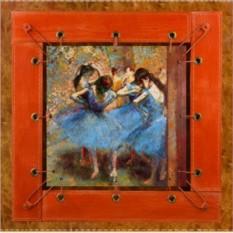 Картина из кожи Танцовщицы в синем Дега