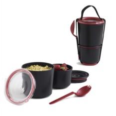Черный ланч-бокс Lunch Pot