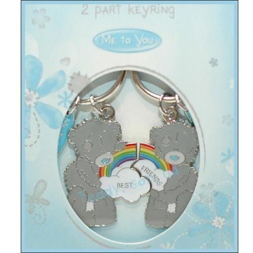 Брелок двойной «Мишки с радугой»