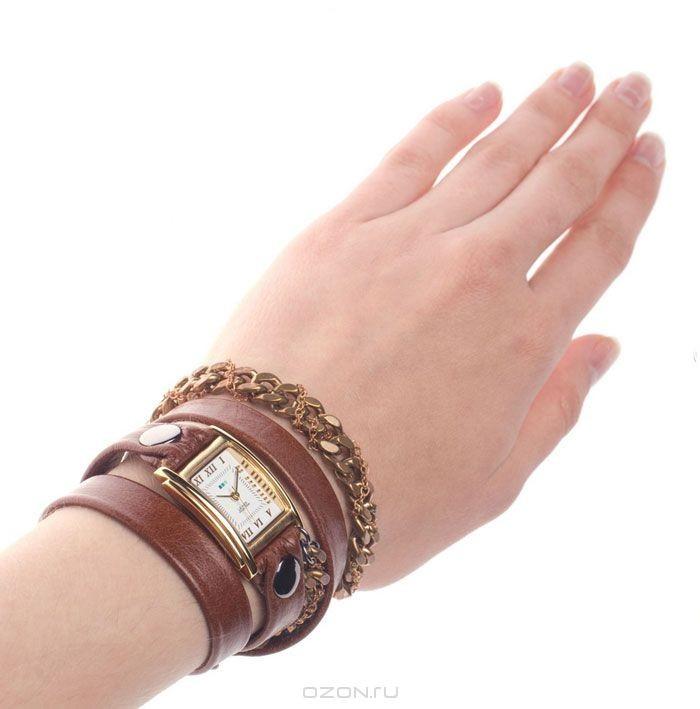 Часы наручные женские La Mer Chain Moscow Braided Brown