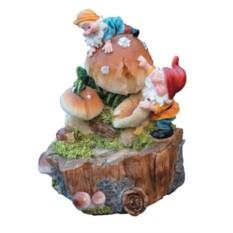 Фонтан с помпой Гномы и грибы