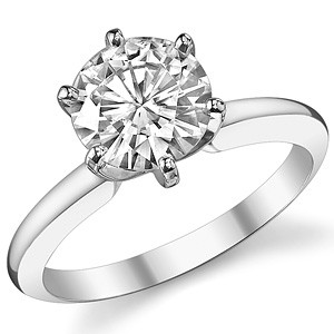 Кольцо для помолвки из золота Diana