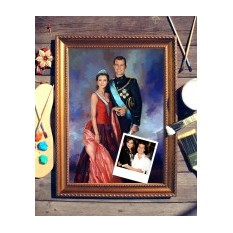 Парный портрет по фото Принцесса и принц