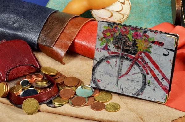 Портмоне Elole Design Велосипед с цветами