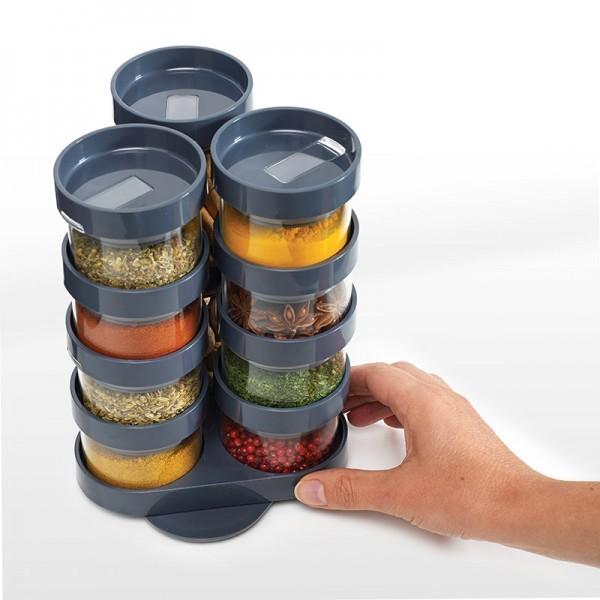 Серый набор ёмкостей для специй Spice Store™ Carousel