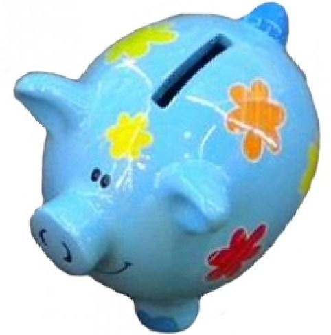 Копилка Голубая свинка