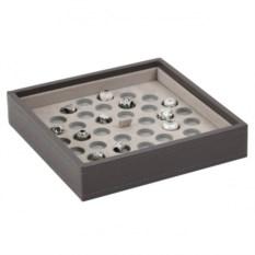 Серый открытый лоток для хранения шармов LC Designs