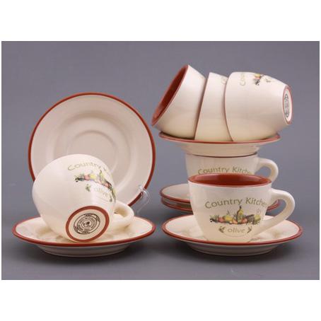 Чайный набор на 6 персон «Оливия»