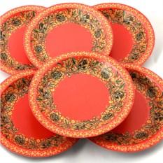 Набор из 6 тарелок Красна с цветами