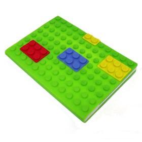 Блокнот lego, зеленый