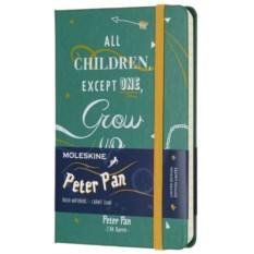 Зеленая записная книжка в линейку Moleskine Peter Pan