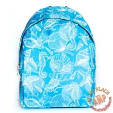 Голубой рюкзак Морской