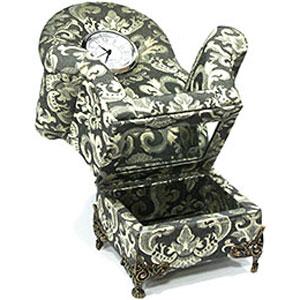 Шкатулка «Королевское кресло» с часами