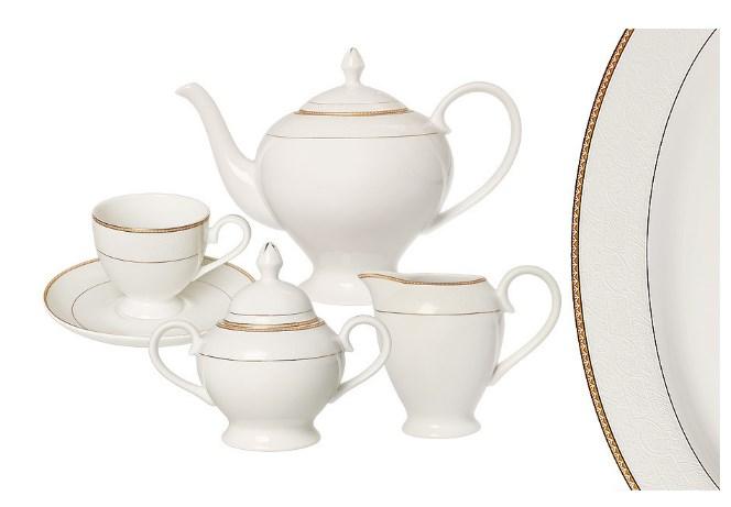 Чайный фарфоровый сервиз Грация на 6 персон, 15 предметов
