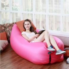 Надувной диван Lamzac Ламзак розового цвета