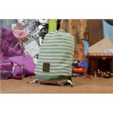 Бежево-зеленый текстильный рюкзак
