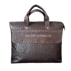Сумка-портфель для ноутбука из натуральной кожи страуса