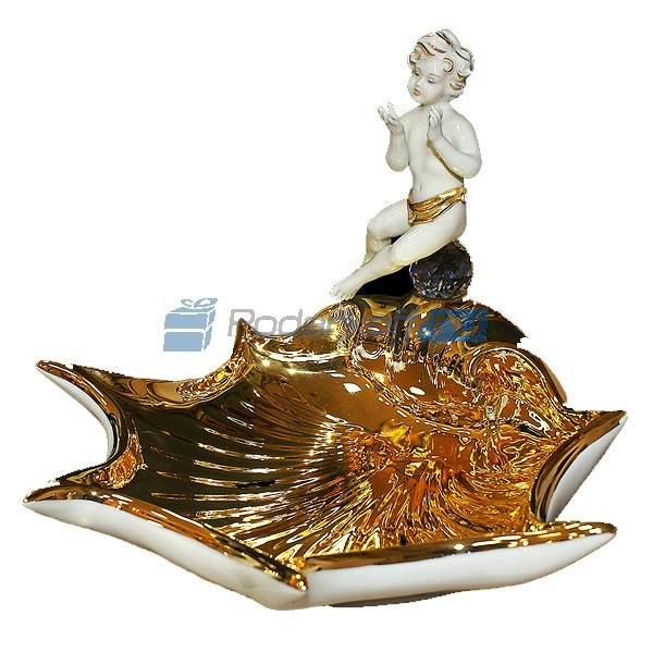 Блюдо Раковина с ангелом