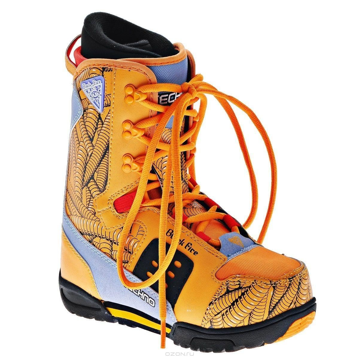 Ботинки для сноуборда Black Fire Junior Boy, оранжевый. Размер 35