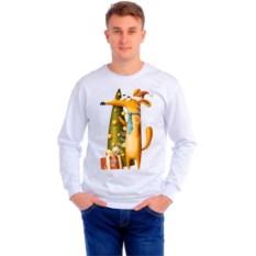 Мужская толстовка Собака с елочкой