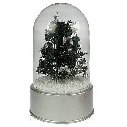 Сувенир с падающим снегом «Ёлка зеленая»