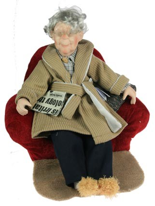 Коллекционная фарфоровая кукла Дедушка