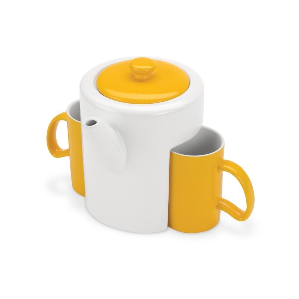 Чайный набор: чайник, 2 чашки