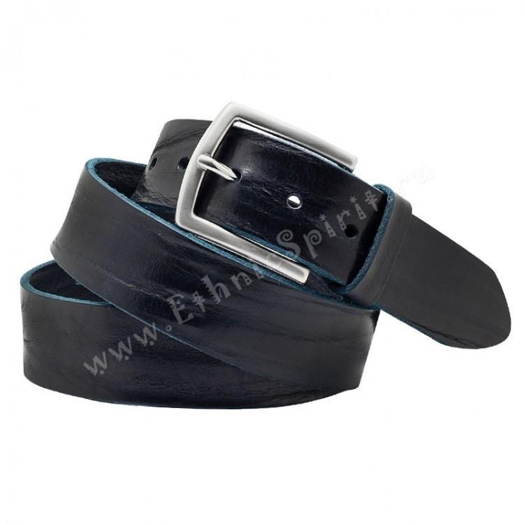 Темно-синий мятый джинсовый ремень A.Roberto Napoli