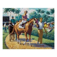 Картины по номерам «Перед скачками»