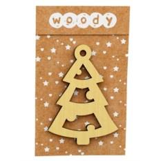 Деревянное новогоднее украшение «Елочка»