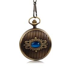 Карманные часы с голубым кристаллом