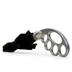 Зонт с серебристой ручкой Кастет