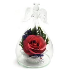 Подарочная композиция Ангел из натуральных роз