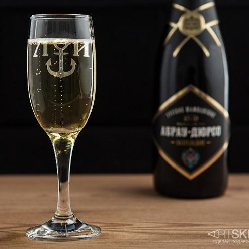 Бокал для шампанского Якорёк