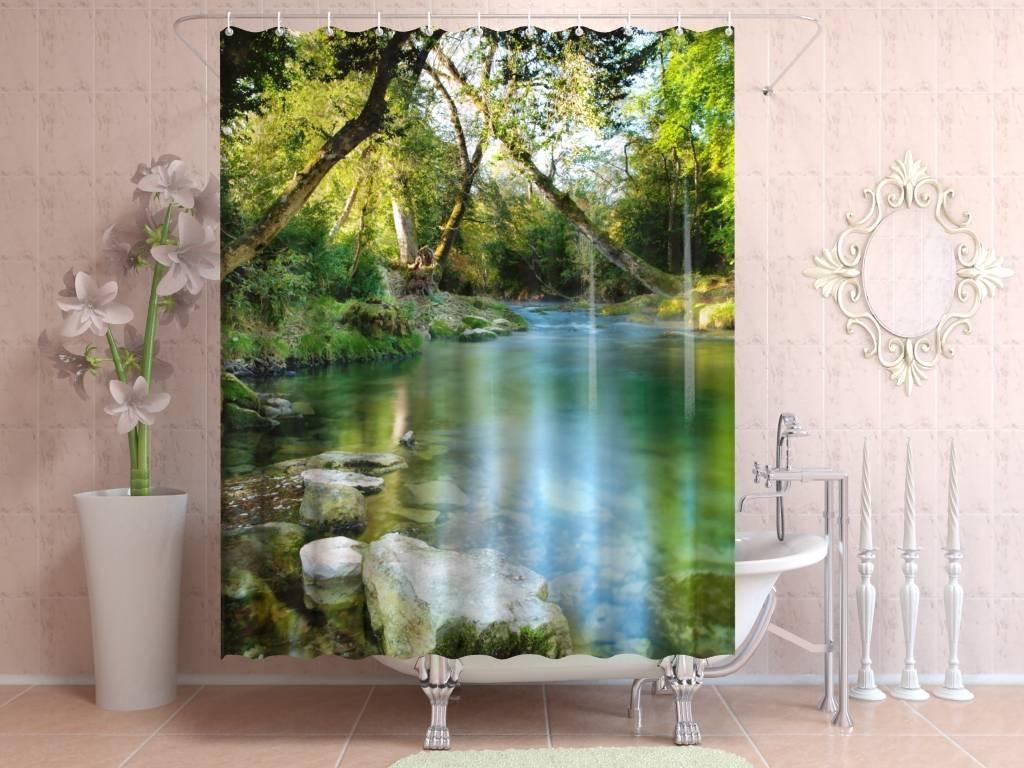 Штора для ванной Кристальная река