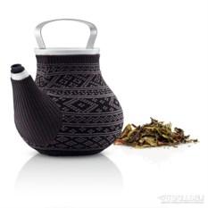 Серый заварочный чайник в вязаном чехле Мy big tea