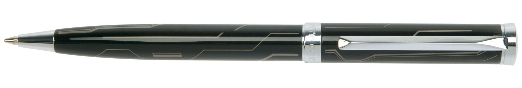 Черная шариковая ручка с рисунком Pierre Cardin Evolution