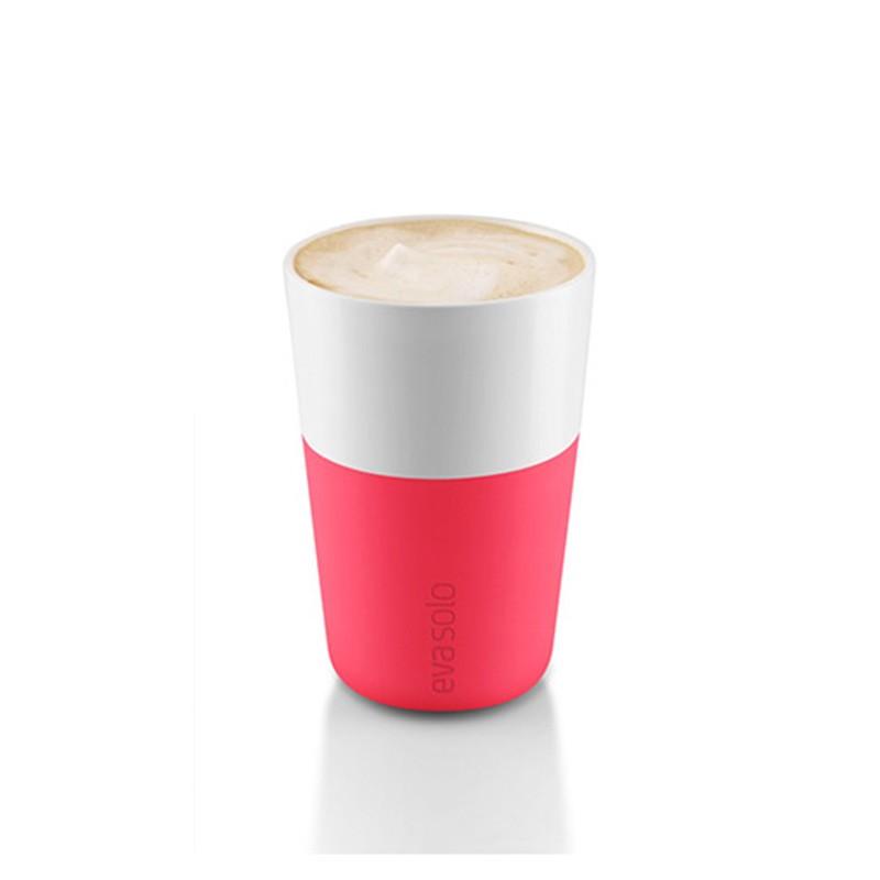 Розовые фарфоровые чашки Latte