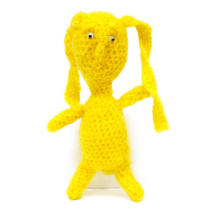 Вязаная кукла «Зайчик»