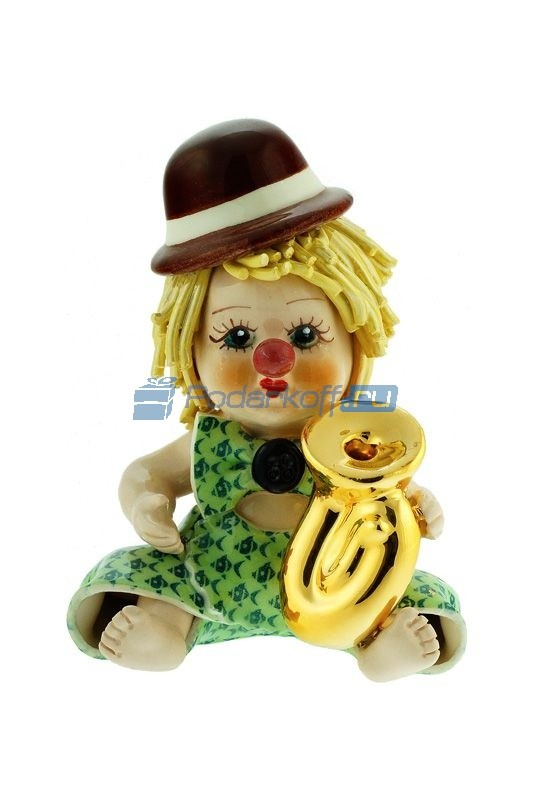 Статуэтка Клоун-мальчик с трубой