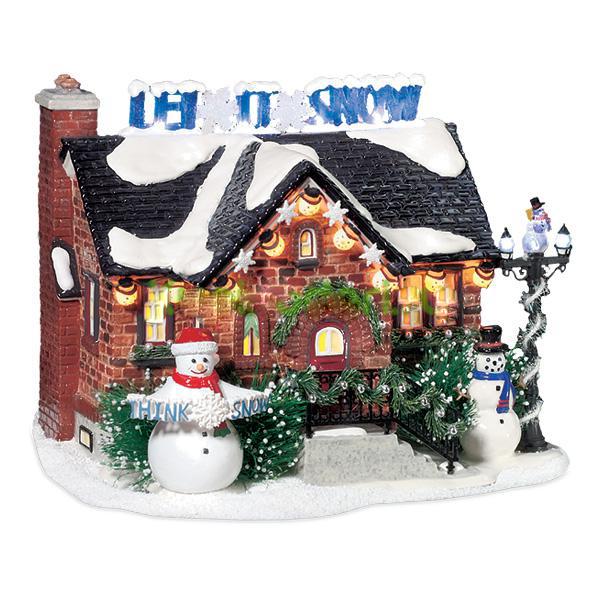 Новогодний сувенир «Дом снеговика»