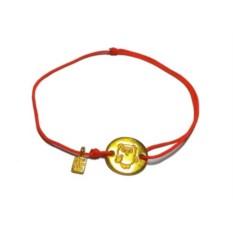 Веревочный браслет Винни Пух (золото, 585 проба)
