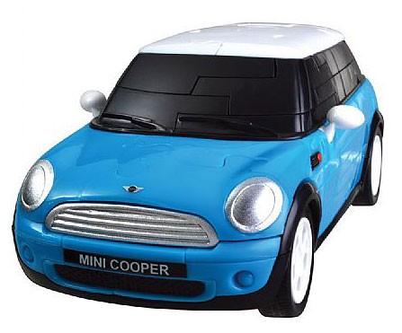 3Д пазл Мини Купер (синий, собранный)