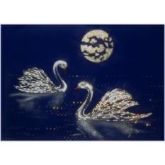 Картина Swarovski Лебеди