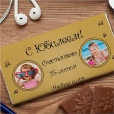 Шоколадная открытка Золотой юбилей