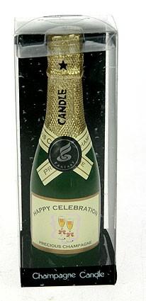 Свеча в виде бутылки шампанского