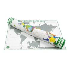 Зеленая скретч-карта мира Премиум