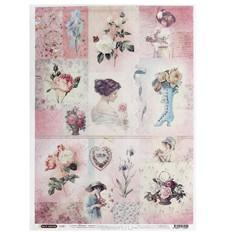 Рисовая бумага для декупажа Craft Premier Цветы